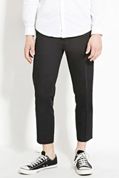 Forever 21 Cropped Slim Fit Trousers Black