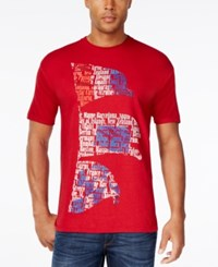 Club Room Men's Graphic Print T Shirt Only At Macy's Cardinal