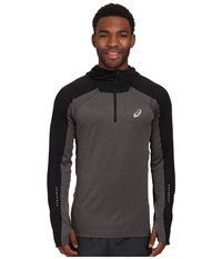 Asics Hooded Long Sleeve Top Performance Black Heather Men's Sweatshirt Gray