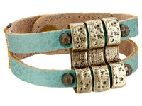 Leather Rock B657 Turquoise Bracelet Blue