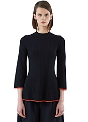Proenza Schouler Flared Rib Knit Sweater Black