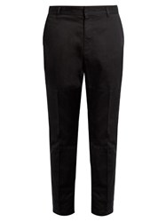 Marc Jacobs Cropped Cotton Trousers Black
