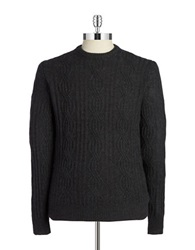 Black Brown Cableknit Cashmere Sweater Coal Grey