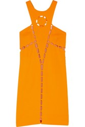 Emilio Pucci Cutout Crepe Mini Dress Orange
