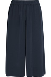 Vince Washed Satin Culottes Navy
