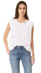 Sundry Let's Get Lost Sleeveless Tee White
