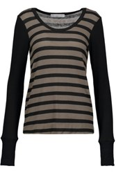 Kain Label Frawley Striped Stretch Knit Sweater Anthracite