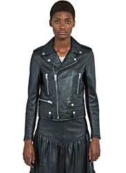 Saint Laurent Leather Motorcycle Jacket Black
