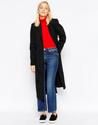 Wood Wood Kerry Long Coat Black