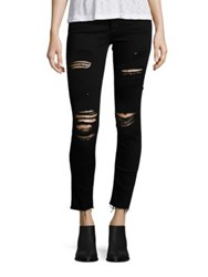 Ag Jeans Distressed Ankle Leggings Dark Night
