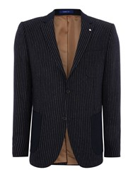 Peter Werth Jonny Wide Stripe Patch Pocket Blazer Navy