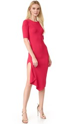 Cushnie Et Ochs Short Sleeve Knit Dress Red
