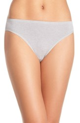 Nordstrom Women's Lingerie Seamless High Cut Briefs Grey Sleet Heather