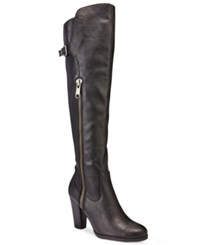 Rialto Violet Over The Knee Dress Boots Women's Shoes Black