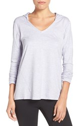 Zella Women's 'To And Fro' Hooded Pullover Tee Purple Rush