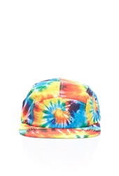 Forever 21 Tie Dye Five Panel Hat Blue Yellow