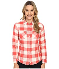 Woolrich Conundrum Long Sleeve Shirt Hot Guava Women's Long Sleeve Button Up Red