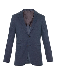 Faconnable Single Breasted Cotton Blend Jacket