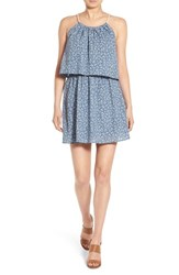 Junior Women's One Clothing Floral Print Popover Dress