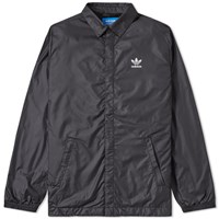 Adidas Blk Wvn Coach Jacket Black