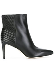 Sergio Rossi Ribbed Ankle Boots Black