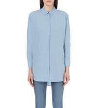 Mih Jeans Oversized Cotton Shirt Ash Blue