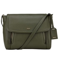Dkny Chelsea Vintage Small Leather Messenger Bag Absynthe
