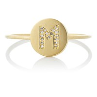 Jennifer Meyer Women's Mini Initial Disc Ring No Color