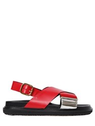 Marni 30Mm Crisscrossing Leather Sandals