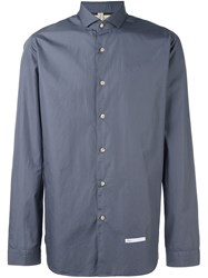 Dnl Classic Spread Collar Shirt Blue