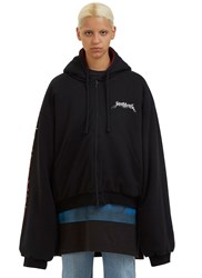 Vetements Oversized Reversible Hooded Sweater Black