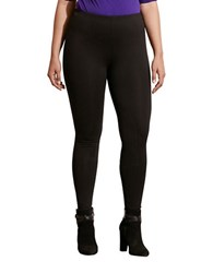 Lauren Ralph Lauren Plus Stretch Ponte Leggings Black
