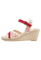 Pare Gabia Tenessy Platform Sandals Rouge Red