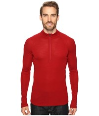 Icebreaker Everyday Long Sleeve Half Zip Oxblood Men's Clothing Red