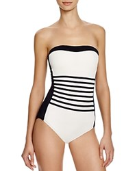 Dkny A Lister Bandeau One Piece Swimsuit Black