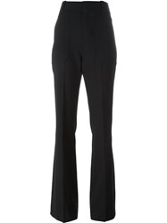 Chloe Flared Fitted Trousers Black