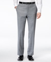 Kenneth Cole New York Grey Sharkskin Slim Fit Pants