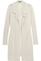 James Perse Silk Blend Cardigan White