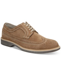 Bass Pearson Wing Tip Oxfords Men's Shoes Taupe Chalk Smoke