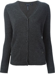 Woolrich V Neck Cardigan Grey