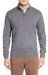 Peter Millar Men's Quarter Zip Cashmere Pullover