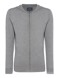 Criminal Men's Moore Lightweight Knit Hoody Grey Marl