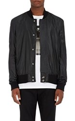 Public School Men's Tech Taffeta Bomber Jacket Black