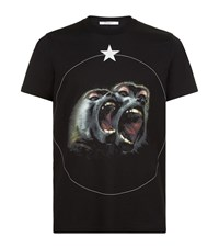Givenchy Screaming Monkey Cuban T Shirt Male Black