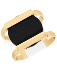 Inc International Concepts M. Haskell For Gold Tone Circle Resin Cuff Bracelet Only At Macy's Black