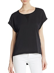 French Connection Polly Keyhole Hi Lo Top Black