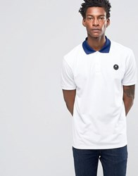 Wood Wood Brian Logo Polo Contrast Collar Bright White
