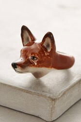 Anthropologie Fox Portrait Ring Blue