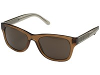 Burberry 0Be4211 Transparent Brown Transparent Light Brown Brown Fashion Sunglasses