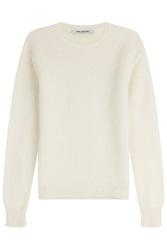 Knit Pullover With Wool And Mohair Beige